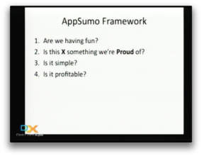 appsumo framework ask these of your company