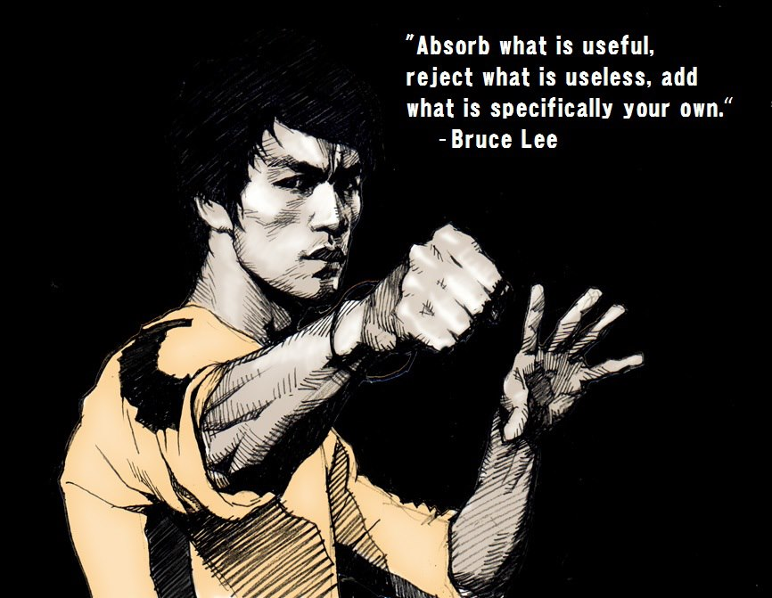 Bruce Lee Jeet Kune Do Quotes absorb was is useful