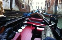 gondola feet up, heads back