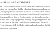 be an axe murderer
