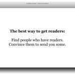 get readers by [step 1 & 2]