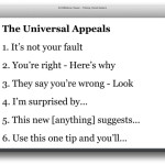 universal phrases to appeal to your audience